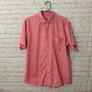 Peter Millar | Salmon button down shirt sleeve